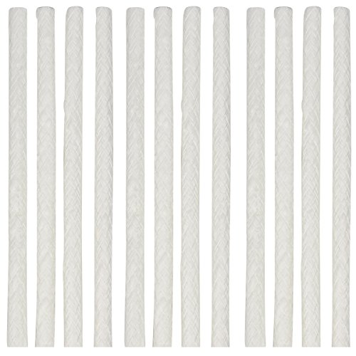 [12 Packs - 1/2 by 10 Inch Long Fiberglass Tiki Torch Wicks] - eLander Replacement Wicks, Perfect for Outdoor TIKI Torch, Wine Bottle (Outdoor Fiberglass)