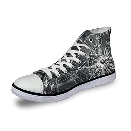 FOR Shoes for DESIGNS Men Loafers and Sneakers Comfort U Lace Awesome Flat Canvas High Black Women Top Up RBnR1qUwg