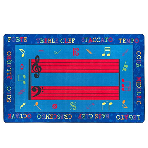 (Flagship Carpets FE121-44A Fun with Music Rug, Creatively Reinforce Music Vocabulary and Symbols, Children's Classroom Educational Carpet, 7'6