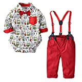 Little Boy Gentleman Sets,Jchen(TM) Toddler Baby Little Boy Cartoon Romper Overall Pants Suits for 1-4 Y (Age: 18-24 Months)
