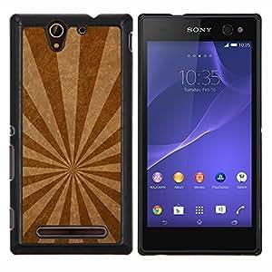 """For Sony Xperia C3 , S-type Líneas de emisión de textura"""" - Arte & diseño plástico duro Fundas Cover Cubre Hard Case Cover"""