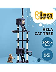 Cat Scratching Tree Post Sisal Pole Condo House Furniture Multi level Blue 260cm
