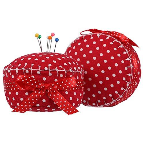 NEOVIVA Lovey Cupcake Pincushions for Long Pins, Pack of 2, Polka Dots Tango ()