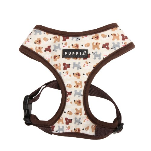 PUPPIA Authentic Dog Story Pet Harness A, X-Small, Brown