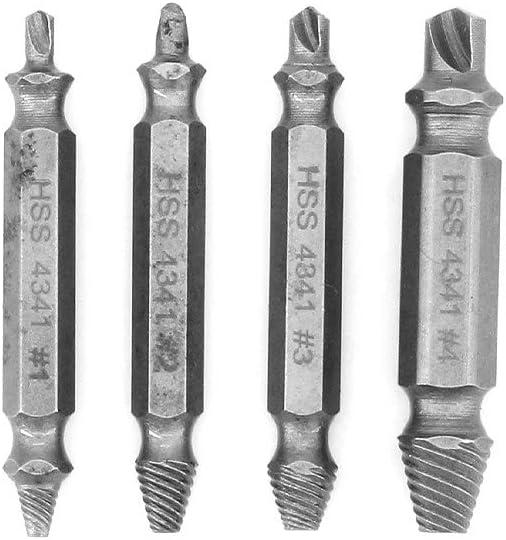 set di viti per viti da 4 pezzi fai-da-te MoYouno Kit estrattore di vite danneggiato 4341# rimuovere facilmente le viti spelate realizzato da H.S.S
