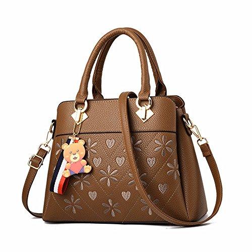 Bolso Mujer para BMKWSG marrón al marrón marrón Hombro AUFfOfW