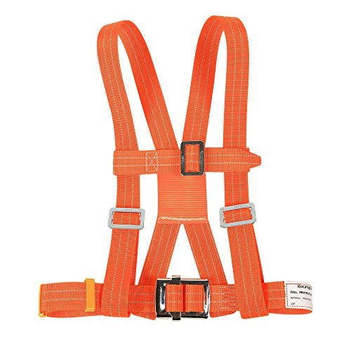 XINDA Outdoor Aerial Protection Belt Anti Falling Safety Hook High Altitude Operation Wear-Resistant Climbing Polesafety Belt (蓝色) by XINDA (Image #1)