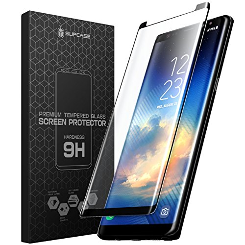 SUPCASE Galaxy Note 8 Screen Protector, Premium Edge-to-Edge Full Coverage Tempered Glass Screen Protector With Mounting Tool for Samsung Galaxy Note 8 (2017 Release)