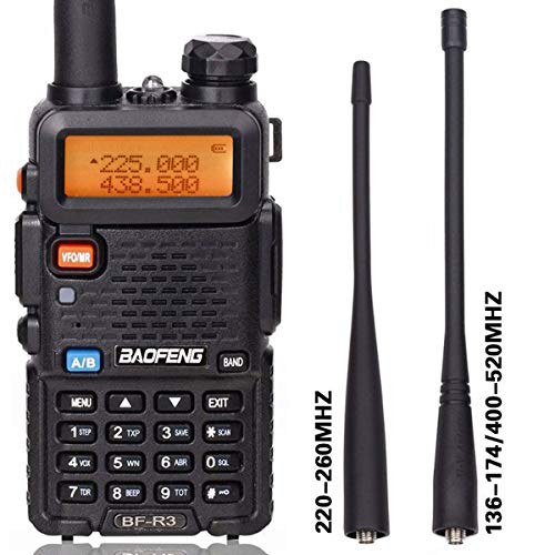 BaoFeng BF-R3 Tri-Band 136-174 220-260 400-520 MHz Amateur Portable Hamster CB Radio Comunicador Transmitter Two Way Radio