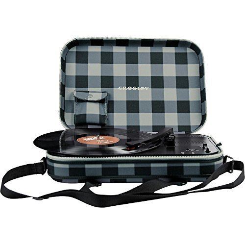Crosley CR8016A-GC Messenger Shoulder Bag Turntable Record