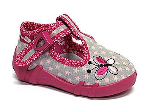 Made in EU - Zapatillas de estar por casa de algodón para niño rosa - Amaranth