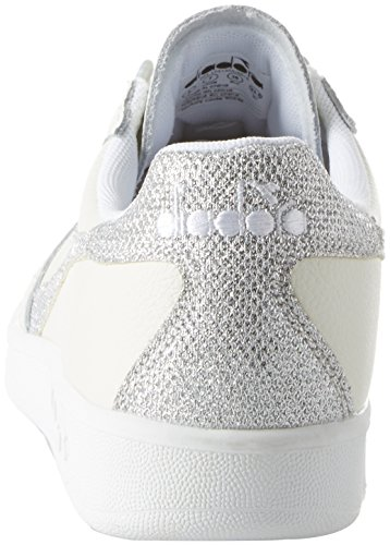 Gymnastique L Diadora 43 Bianco 42 37 39 36 Cassé 45 40 Femme de Blanc Bianco Chaussures B 41 Elite C0516 38 46 WN 44 Argento BwwaqAEYr