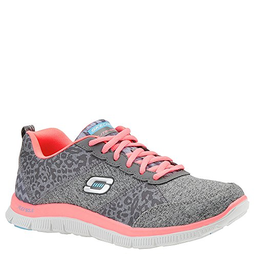 7 M Charcoal shoes Women's 5 Pink Pink athletic Flex and Skechers Tribeca Appeal Charcoal sneakers SvBnUq