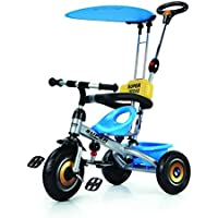 Baybee Duster 4 in 1 Convertible Baby Tricycle Kid's Trike Ride on with Parental Adjust Push Handle Children Tricycle with Canopy Bicycle Children Tricycle Suitable for Boys & Girls (White)