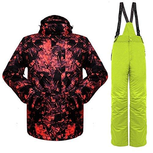 YFF Esquí Invierno Hombre traje chaqueta transpirable Ski térmico exterior Snowboard de montaña ,rojo,verde plus XXL: Amazon.es: Ropa y accesorios