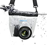 Zonman DSLR Camera Univeral Waterproof Underwater Housing Case Pouch Bag for Canon Nikon Sony Pentax Brand Digital SLR Cameras (Transparent) from zonman