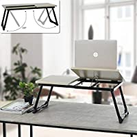 FurnitureR Escritorio portátil. Mesa portátil para computadora portátil. Mesa Plegable Ajustable para computadora. Sirve…