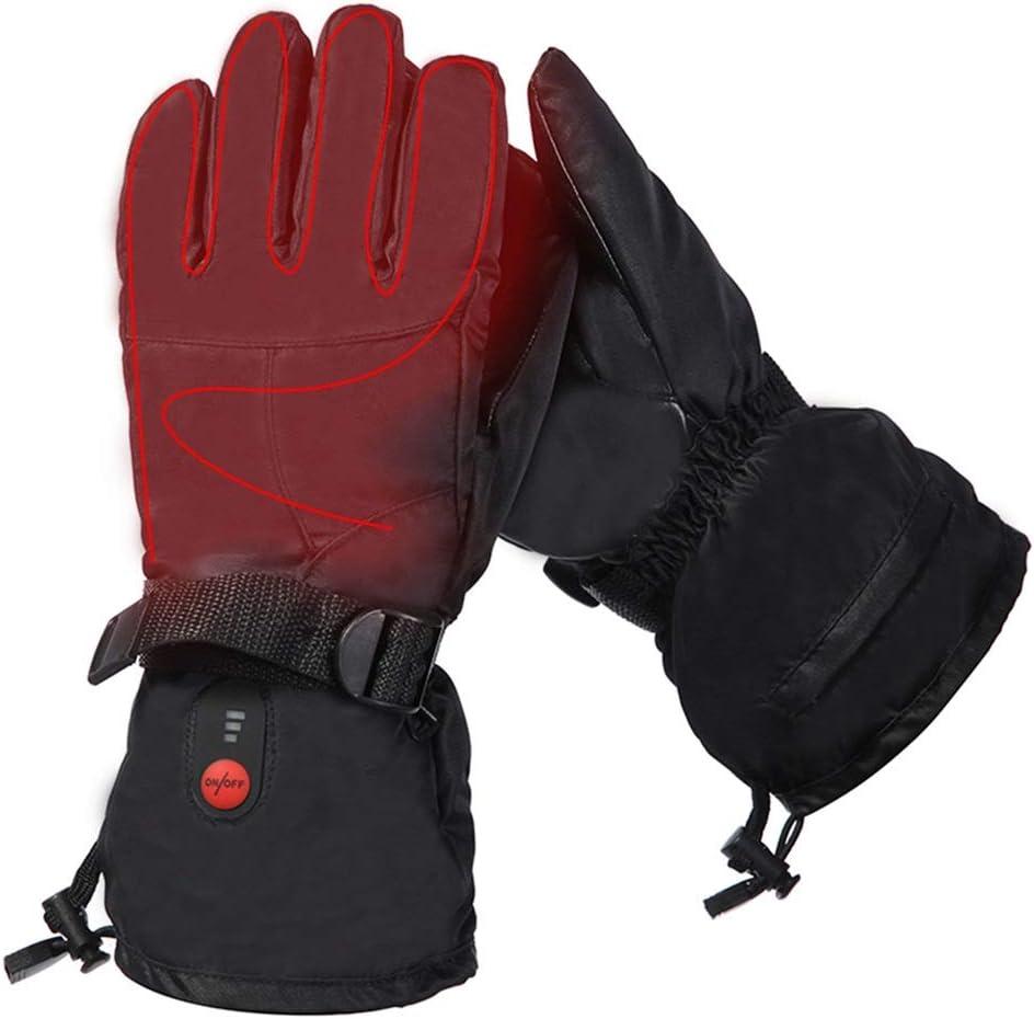 加熱手袋 電気温水手袋7.4V 2200mAhの3つのレベルの温度制御メンズ・レディース・スキーモーターサイクリングサイクリング乗馬手袋M/L/XXL付き (色 : M, サイズ : Free size)