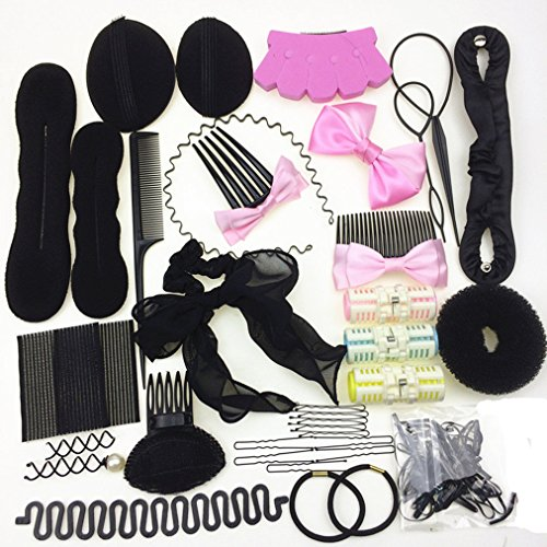 Cuhair mix 30 pcs Hair Styling tool design Clip Band Hairpin Comb Twist Accessories wavy Tools Kits for girl women (Wavy Clip Design)