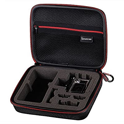 New Traveling Carrying Case for GoPro Hero 4 Black, Hero4 Silver, Hero 3,3+,2, hero and Accessories by Smatree -Upgraded Version,Thicker EVA and More Durable Cloth