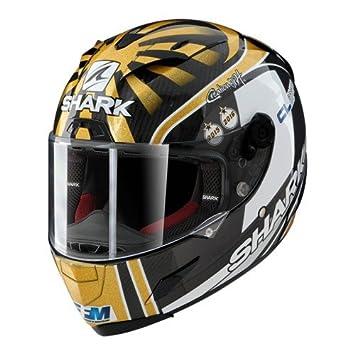 Shark de Hark – Race – Casco de Moto R Pro Carbon Zarco, Negro/