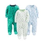 [Sponsored]Baby Boys' 3-Pack Sleep and Play