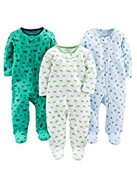Simple Joys by Carter's baby-boys 3-Pack Sleep and Play Footie