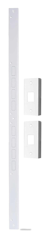 Door Armor Mini - Door Security Reinforcement Kit For Jamb, Frame, Strike Plate - DIY Home Security – White