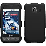 Asmyna LGLS670HPCSO306NP Premium Durable Rubberized Protective Case for LG Optimus S/Optimus U/Optimus V LS670 - 1 Pack - Retail Packaging - Black