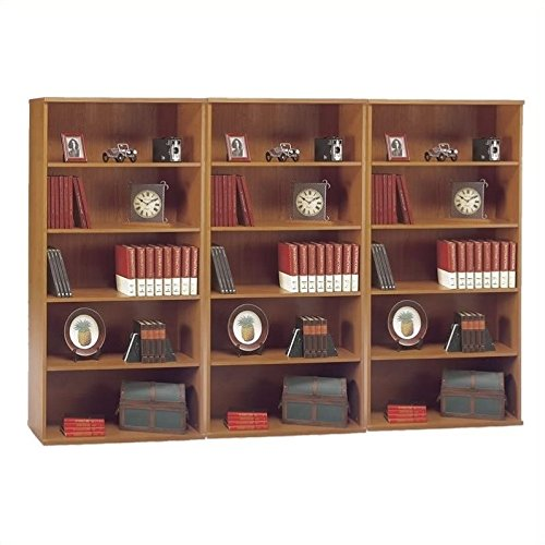 - Bush Business Series C 5 Shelf Wall Bookcase in Natural Cherry