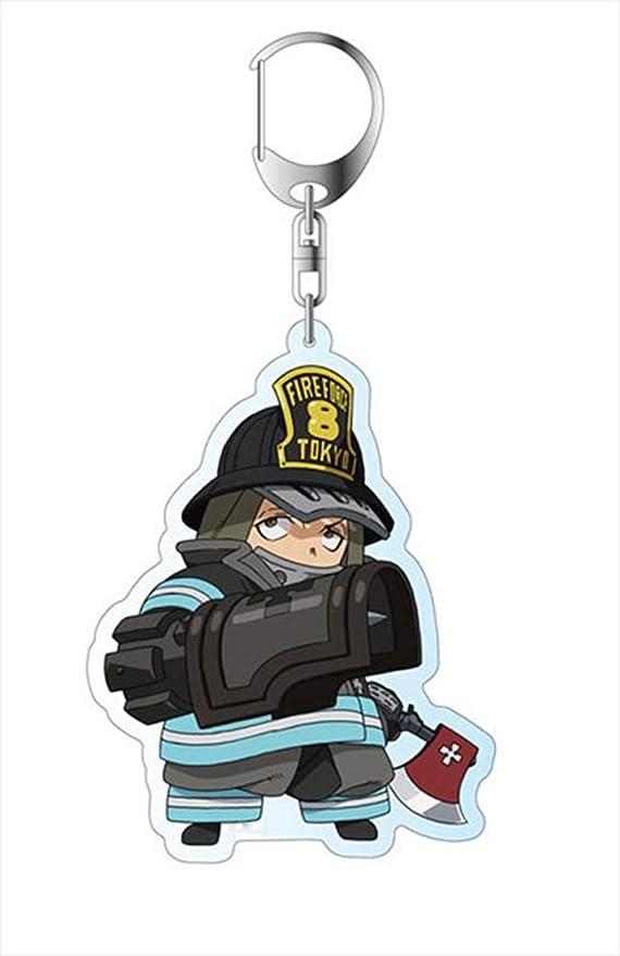 Cute Cat Kotatsu Tamaki Key Chain Anime Fire Force Keychain Key Pendants Buckle