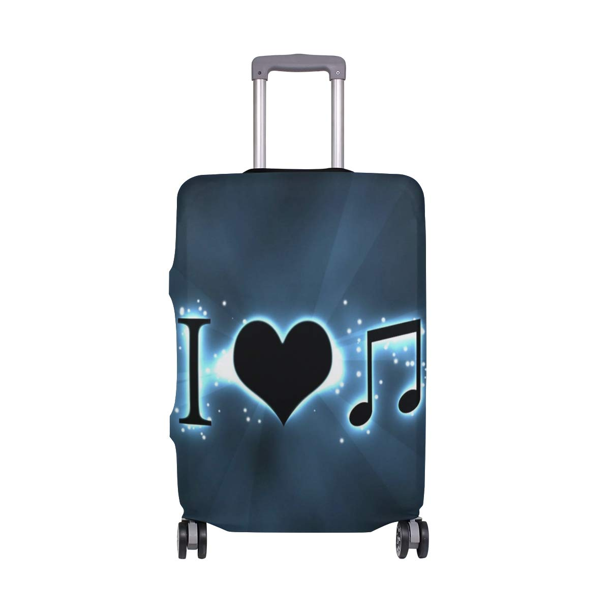 Creative Love Music suitcase cover elastic suitcase cover zipper luggage case removable cleaning suitable for 29-32 trunk cover