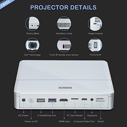 Icodis cb 400 mini projector specs comparison reviews for Mini projector reviews