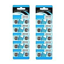 PowerPeak Alkaline Button Cell Battery 1.55V, LR44 / A76 / AG13 (2 Pack)
