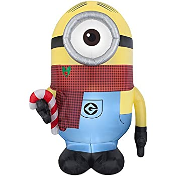 despicable me minion stuart 895 ft x 465 ft lighted christmas inflatable