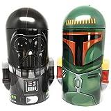 Star Wars Darth Vader and Boba Fett Steel Coin Banks (Total of 2 Banks)
