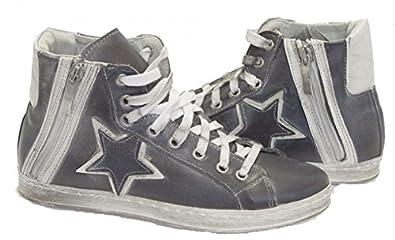 best loved 64937 0de05 Bluzi-Made in Italy Damen Leder Sneaker, high, Reißverschluß ...
