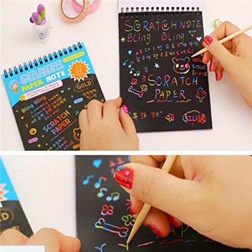Paper Art Drawing Scratch Arts Crafts Kids Stocking Stuffers
