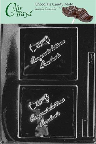 Cybrtrayd vida de la fiesta G039Felicidades Grad tarjeta de felicitación Chocolate Candy Mold en bolsa de polietileno de...