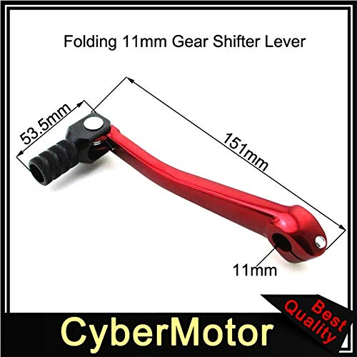 Frames & Fittings Motorcycle Red 11mm Gear Shifter Lever for 50cc 110cc 125cc 140 150cc 160cc Chinese Lifan YX SSR KLX XR50 CRF50 Pit Dirt Bike
