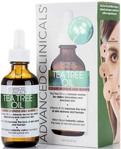 Advanced Clinicals Tea Tree Oil for Redness and Bumps. (1.8oz)