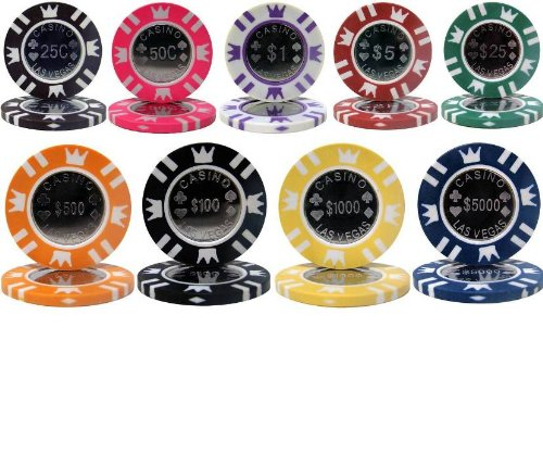 PS Casino Crown Coin 15gm Poker Chip Sample Set - 9 New Chips!