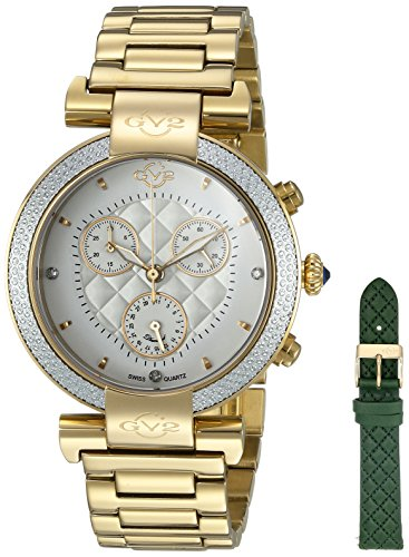 GV2-by-Gevril-Womens-Berletta-Chrono-Swiss-Quartz-Stainless-Steel-Casual-Watch-ColorGold-Toned-Model-1551