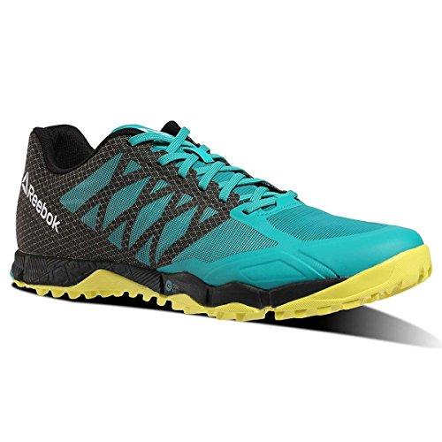 Mens Reebok Crossfit Hastighet Tr Träningsskor Neon Pacific / Svart / Vit Grön