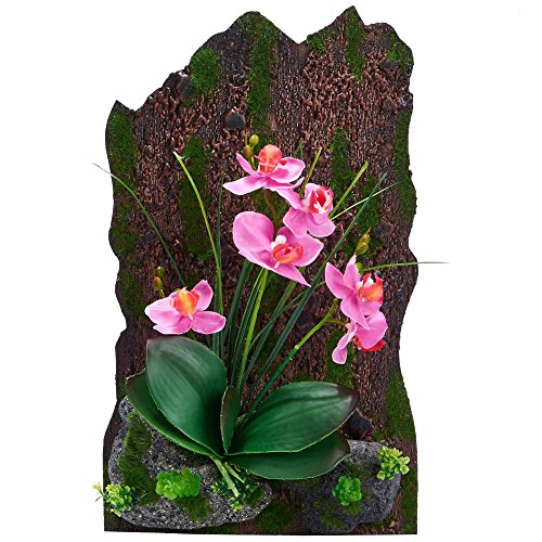 3D Frames Artificial Flowers Orchid Arrangement Table Top Decoration or Wall Mounted Sculptures (Pink)