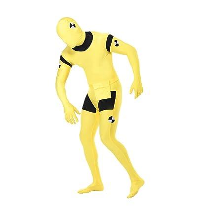 Amazon.com: Crash prueba Dummy amarillo piel traje divertido ...