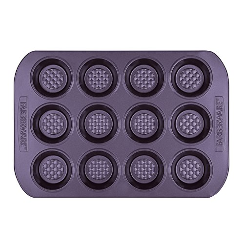 Farberware Colorvive Nonstick Muffin Pan, 12-Cup, Purple