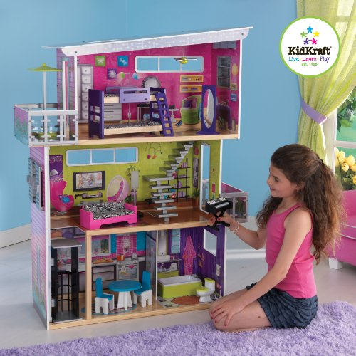 Kidkraft Modern Mansion Dollhouse With Lights And Sounds Buy Online In Uae Toys And Games