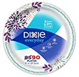"Dixie Everyday Disposable Paper Plates, 8-1/2"" Lunch or Dinner Size, Printed, 90 Count: more info"