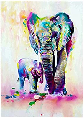 Elephant is Thinking Diamond Painting 5D DIY Full Drill Arts Crafts 30*30cm